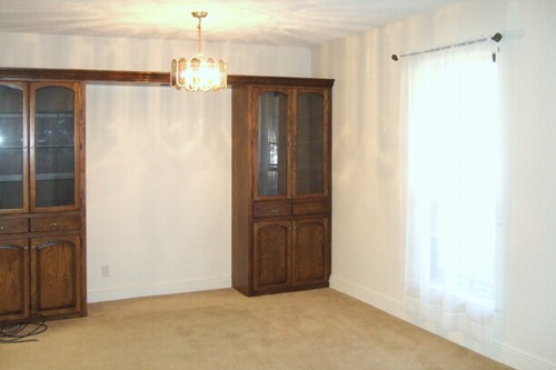 dining/living room with built-in hutch/entertainment center