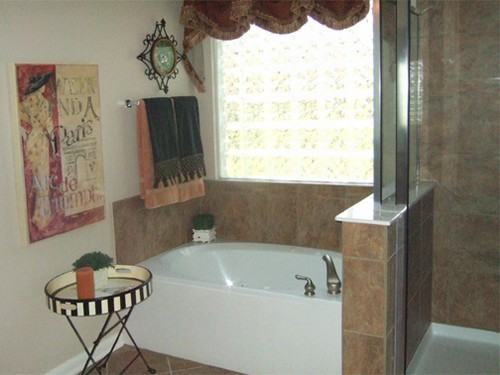 garden tub with whirlpool, separate shower